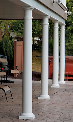 date railing the covering installation vinyl posts iron fence depot of video porch columns home out